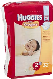 Huggies Little Snugglers Diapers Jumbo, Size 2, 12-18 lbs, 40765 (Case of 128)