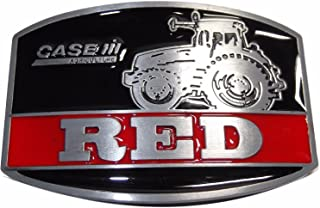 Case IH Agriculture Metal w/ Enamel Accents Belt Buckle