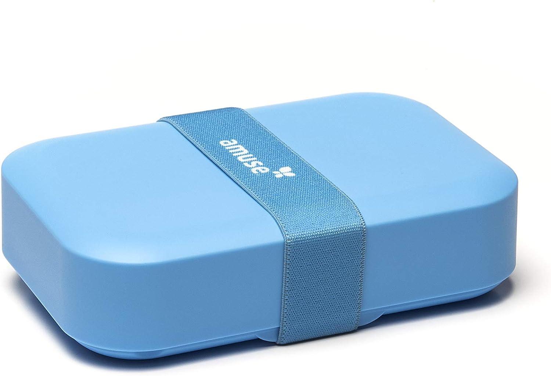 Amuse - Fiambrera (plástico, tamaño M), Color Azul