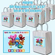Pocoyo Party Favors Supplies Decorations Gift Bag Label STICKERS ONLY 4.25