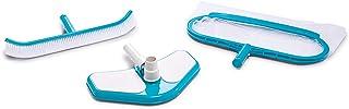 Intex 29057 - Kit de limpieza Deluxe recoge hojas, cepillo y cabezal