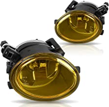 Fog Lights For BMW E46 M3 2001-2006 E39 M5 2000-2003 330I Sedan with ZHP Package 2003-2005 330CI Coupe & Convertible with ZHP Package 2004-2006 (Amber Real Glass Lens w/ 9006 12V 55W Bulbs)