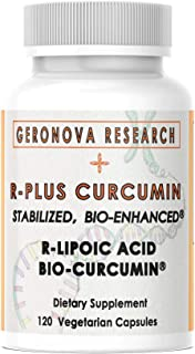 GeroNova Research R-Plus Curcumin: Turmeric Curcumin Supplements (BCM-95) Combined With Stabilized R Alpha ...