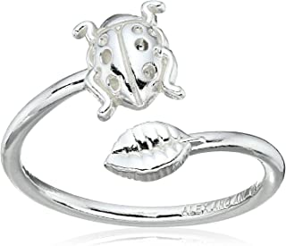 Alex and Ani Ring Wrap Ladybug Stackable Ring, Size 7-9