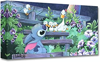 Disney Fine Art Family Blossoms by Michelle St. Laurent Treasures on Canvas Lilo and Stitch 10 Inches x 20 Inches Reproduction Gallery Wrapped Canvas Wall Art