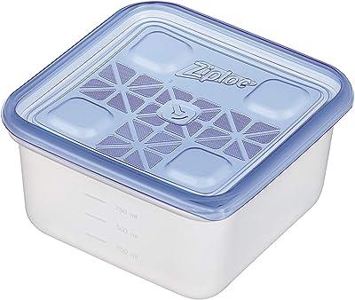 旭化成ホームプロダクツ(Asahi-kasei) 弁当箱 コンテナー 保存容器 正方形 4個(2個×2) 1100ml