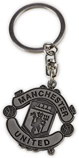 MANCHESTER UNITED FC METAL KEYRING - FEATURES MUFC CREST - NEVER LOSE YOUR KEYS AGAIN WITH THIS GREAT KEYRING - MUFC CREST KEYCHAIN - GREAT STOCKING STUFFER FOR ANY MANCHESTER UNITED FC FAN