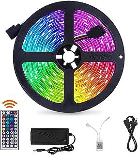 SUNNEST 5 m listwa świetlna LED z 150 diodami LED, pilot zdalnego sterowania, taśma oświetleniowa do domu, sypialni, telew...