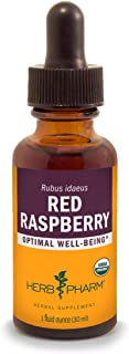 Herb Pharm Certified Organic Red Raspberry Liquid Extract - 1 Ounce