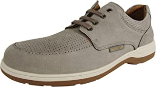 Mephisto Mens Douk Perf Lace Up Sneaker Shoes, Light Grey, US 11