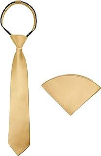 Spring Notion Boys` Satin Zipper Necktie and Handkerchief Set