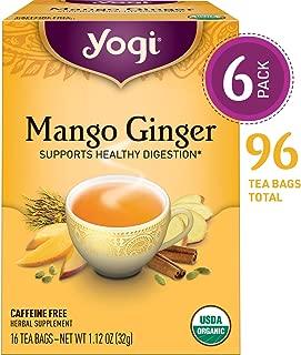 Yogi Tea - Mango Ginger - Supports Healthy Digestion - 6 Pack, 96 Tea Bags Total