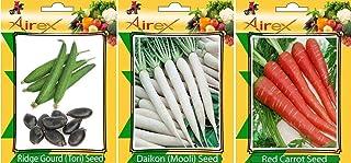 遠くZoomy BY野菜種子:リッジひょうたん、大根とレッドキャロットシードシード+(50シードリッジひょうたん+ 50大根+ 50赤いニンジンパック)が1より多くの花の種無料サンプル