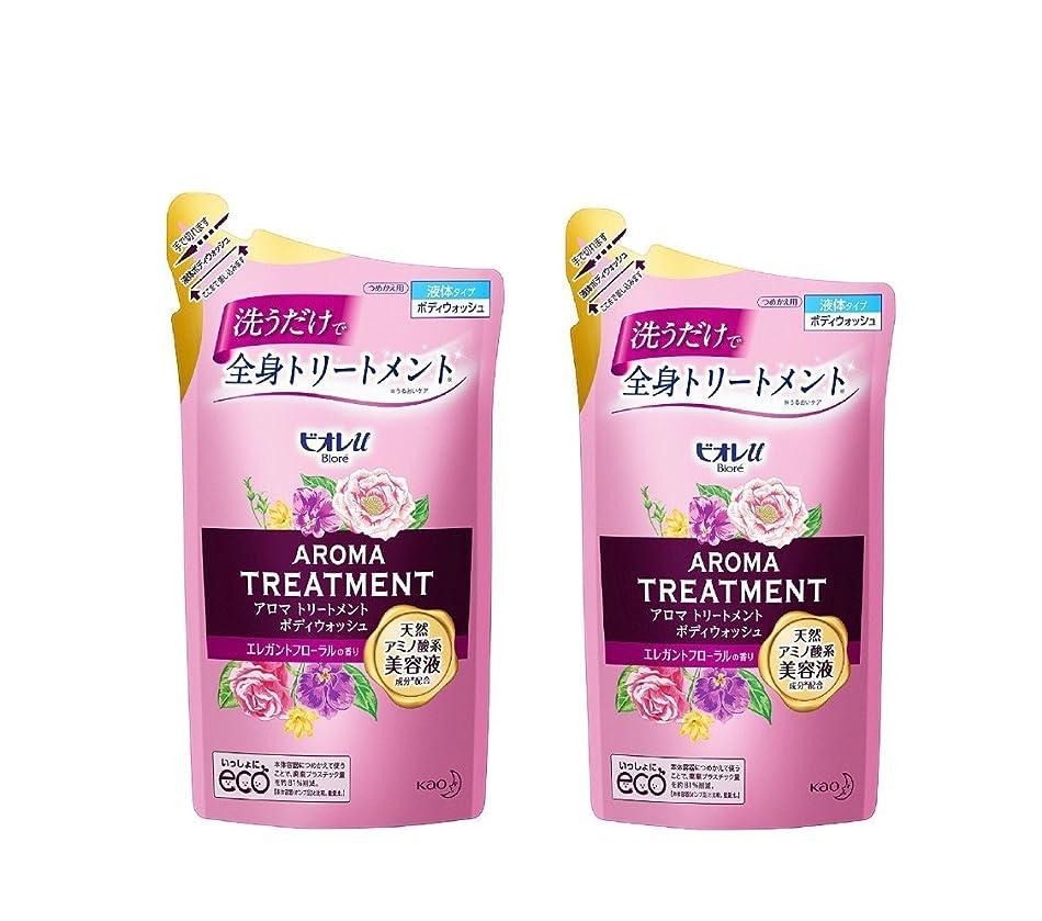 アンソロジーデコレーション化学薬品ビオレu アロマ トリートメント ボディウォッシュエレガントフローラルの香り 詰替340ml×2個