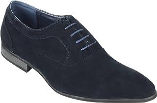 Hombres Negro Azul De Imitación De Cuero Tejido Casual Deslizamiento Mocasines Mocasines En Los Zapatos De Conducción