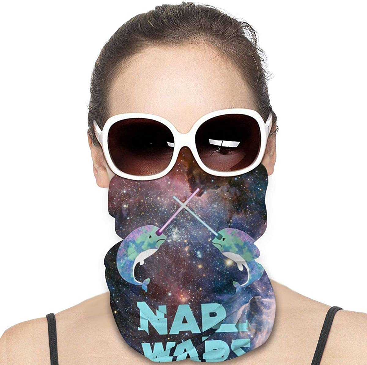 JinSPef Balaclava Sun Protection Face Mask - Starry Sky Narwhal NAR Wars Galaxys for Men Neck Gaiter Multifunctional Headwear Head Bands Neck Gaiters for Men Headwear Neck Warmer for Men