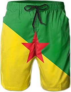 Bandera de Guayana Francesa Hombres Verano Surf Bañadores de Secado rápido Pantalones Cortos de Playa Pantalones de Playa ...
