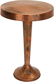 Deco 79 Metal Copper Accent Table, 26 by 19-Inch