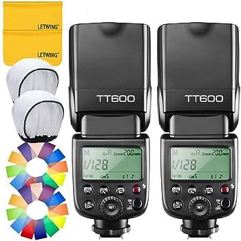 【技適マーク付き】GODOX Thinklite TT600 フラッシュ スピードライト ストロボ 内蔵2.4G ワイヤレストリガ・システム 1/8000S高速シンクロ Canon, Nikon, Pentax, Olympus DSLR カメラ対応 (2個入り)