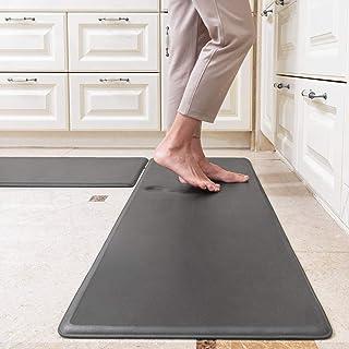 Stehmatte für Küche, Büro, Waschküche und Stehtische, Küchenmatten gepolstert Anti..