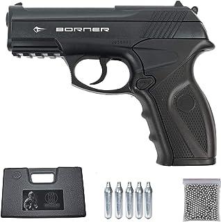 comprar comparacion Borner C11 | Pack Pistola de balines (perdigones Bolas de Acero BB's). Arma de Aire comprimido CO2 Calibre 4,5mm 3 Julios