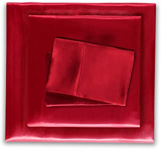 red silk sheets full