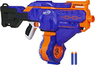 Infinus Nerf N-Strike Elite Toy Motorized Blaster with Speed-Load Technology, 30-Dart Drum, and 30 Official Nerf Elite Dar...