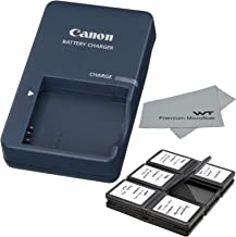 Canon CB-2LV Charger for Canon NB-4L Li-ion Battery compatible with Canon PowerShot SD40 SD30 SD200 SD300 SD400 SD430 SD450 SD600 SD630 + Bonus Items!