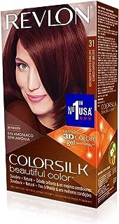 Revlon ColorSilk Hair Color, [31] Dark Auburn 1 ea (Pack of 5)