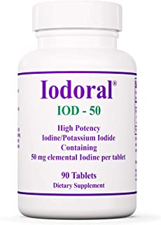 Optimox Iodoral 50 mg - Original High Potency Iodine Supplement - Energy Support - 90 Tablets