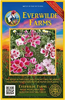 Everwilde Farms - 2000 Farewell-to-Spring Native Wildflower Seeds - Gold Vault Jumbo Seed Packet