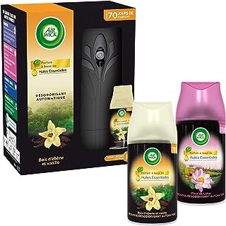 Air Wick Desodorisant Maison Diffuseur Freshmatic + 1 Recharge Vanille + 1 Recharge Fleur de Lotus