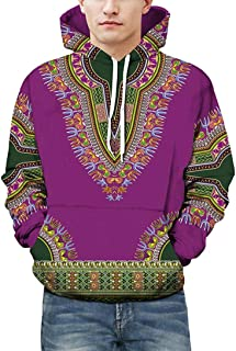 Limsea Lovers Autumn Winter African 3D Print Dashiki Hoodies Long Sleeve Sweatshirt