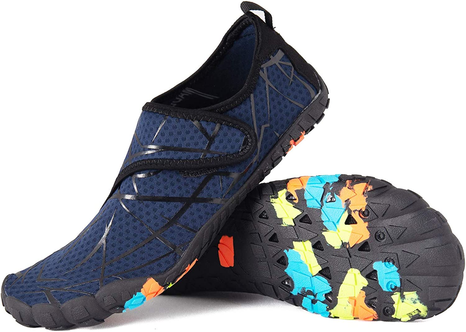 LZ Mens Womens Water shoes Beach shoes Quick Dry Swim shoes Lightweight Barefoot Aqua shoes