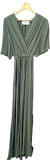 Silvian Heach PGP21321 Dress Remus - Abito Lungo Donna Viscosa Manica Corta Scollo Incrociato e Arricciatura in Vita