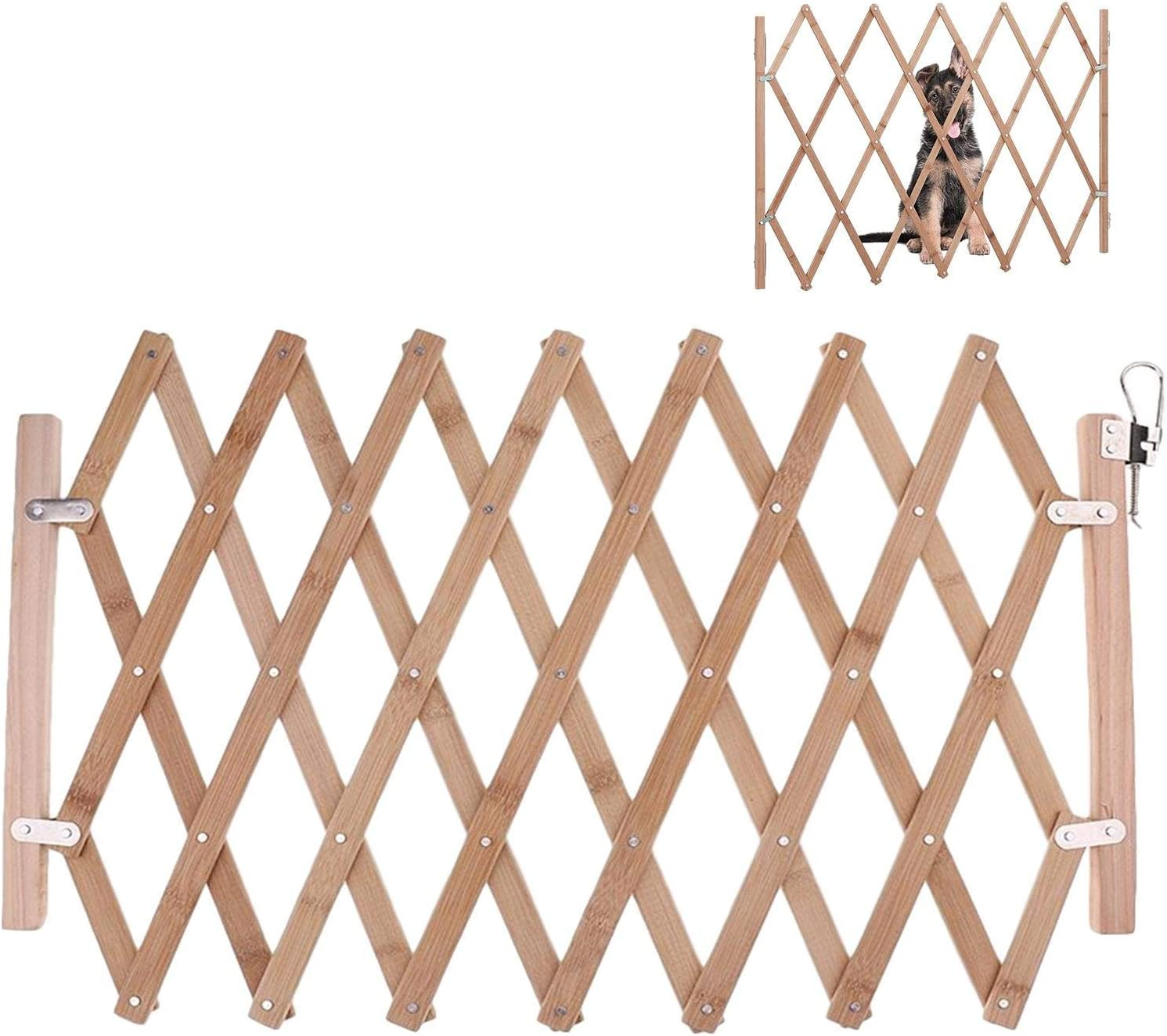 whelsara Telescopic Pet Fence Pet Fence Baby Door Gates Dog Stair Gate Extendable Safety Gate Collapsible Safety Travel Mesh Isolation Net Dog Fence Pet Supplies Protection Net