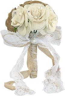 Faylapa Rustic Wedding Bouquet Burlap Flower Bouquets
