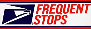 """Rural Postal Carrier Sign, FREQUENT STOPS Magnetic Sign for US Mail, 3"""" x 12"""""""