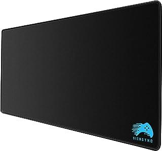 マウスパッド 大型 光学式/レーザー式に対応 適度な表面摩擦 疲労軽減 水洗い 滑り止め 耐久性が良い Siensync 高級感 FPSゲーム おしゃれ ラバー素材採用 マウス用パッド キーボードパッド デスクマット (サイズ:400×900×3mm) オフィス/サイバーカフェなど適用 【メーカー正規&一年間保証】(ブラック)