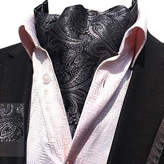 112dd73bd931b YCHENG Hommes Paisley Cravate Foulard Soie De Lier Echarpe Monsieur Ascot  Scarf
