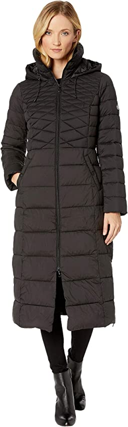 EcoPlume Maxi Coat w/ Side Vent Zippers