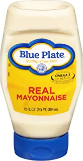 Blue Plate Real Mayonnaise, 12 Ounce Squeeze (Pack of 6)