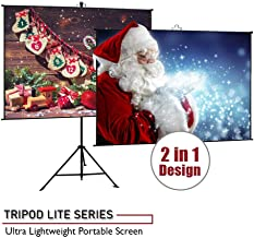Elite Screens Tripod Lite Wall Series | 2 in 1 Portable Projector Screen Dual Tripod Stand/Wall Mount Indoor/Outdoor 50-INCH, 1:1 w/Carrying Bag | T50SW