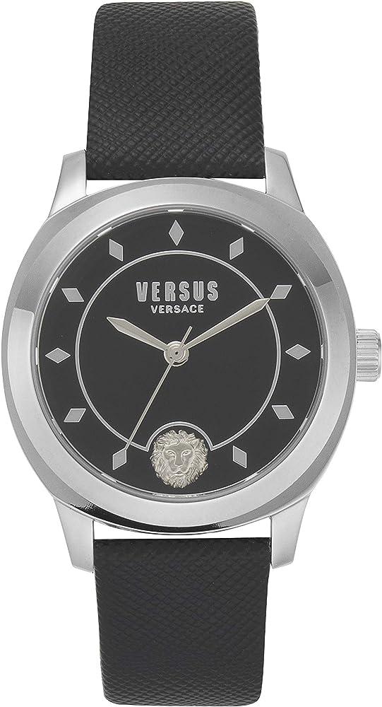 Versus versace orologio da donna con cinturino di vera pelle e con bracciale in acciaio inossidabile. VSPBU0118