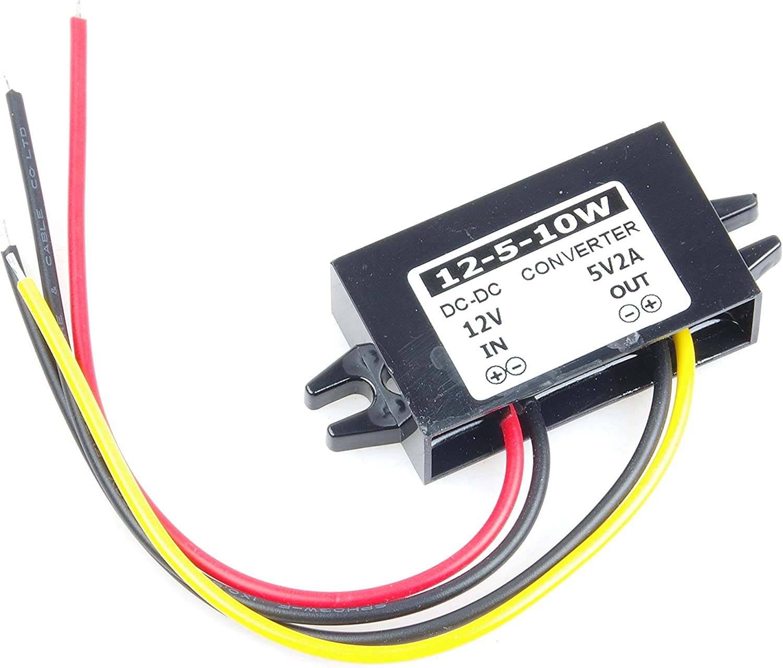 KNACRO DC to DC 12V 8V-22V to 5V 2A 10W Step-Down Power Supply Module Car Power Converter Module Synchronous Buck Over-Temperature Over-Current Short Circuit Protection Suitable