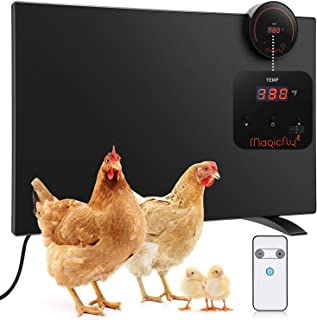 Magicfly Chicken Coop Heater, Large Chicken Panel Heater 165 Watts with Led Display and Temperature Adjustable with Remote...