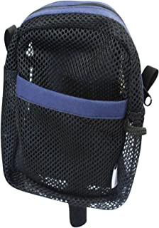 Cane Buddy - Secure Pouch, Carrying Bag for Cane, Walker, Crutches, Hiking Stick and Wheelchairs (Navy- Small)