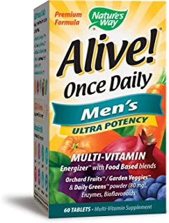Nature's Way Alive Once Daily Men's Multi Ultra Potency Tablets, 60 Count