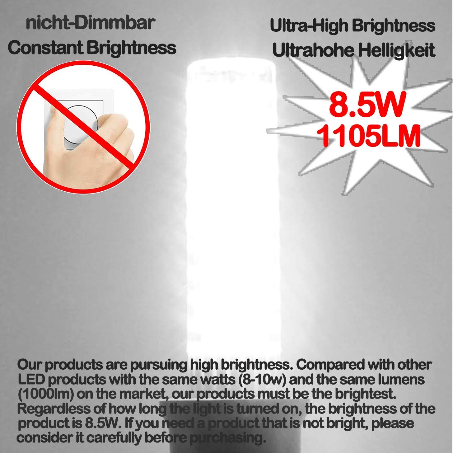 Ymm Bombilla LED B15D brillo ultra alto de 8.5W 1105 lúmenes, AC ...