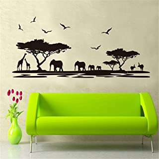 Amazon Brand - Solimo Wall Sticker for Living Room (River Scenic Decor ), Ideal Size on Wall: 160 x 75 cm